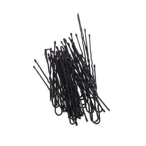 50 piezas delgadas U forma cabello horquilla negro Clips de Metal