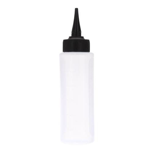 ツイスト キャップ スクイズ スケール家庭用またはサロン髪ドライ クリーニング洗浄ポット 150 ml プラスチック ボトル
