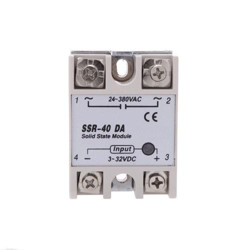Modulo di relè a stato solido SSR-40 DA 24V-380V 40A per temperatura PID Controller 3-32V DC a AC