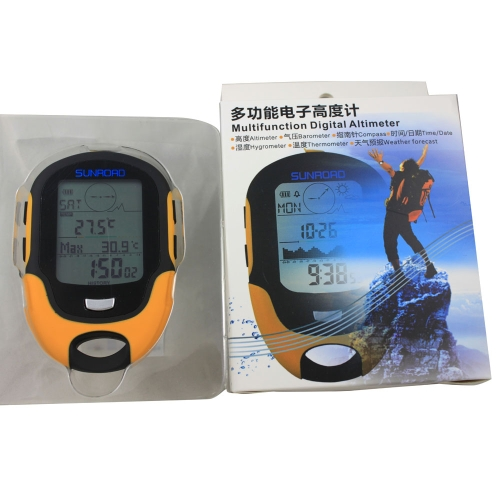 Lixada FR500 Multifunction LCD Digital Altimeter Barometer Compass Thermometer Hygrometer Weather Forecast LED Torch