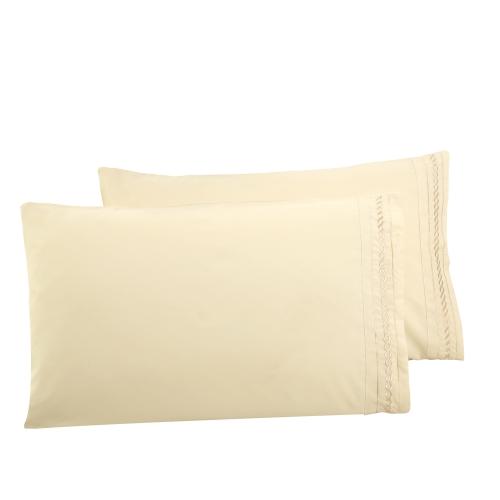 Alose ricamano Cording 4Pcs Bedding Set componibile foglio letto copertura cuscino casi biancheria casa tessuti