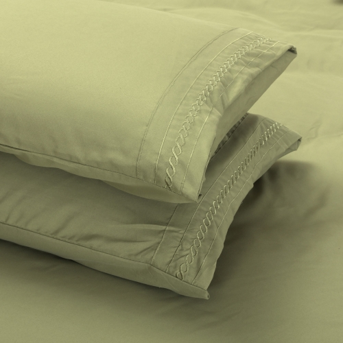 50 * 75 CM Shads Embroider Cording 2Pcs Pillow Cases Bedclothes Home Textiles