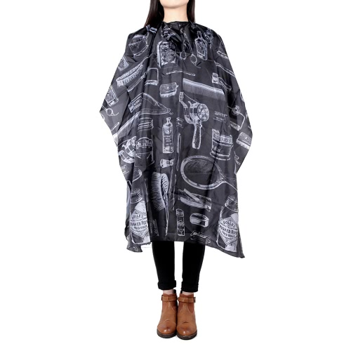 Hairdressing Gown Cape Hair Design Cut Salon Hairstylist Barber Nylon Cloth Wrap Protect