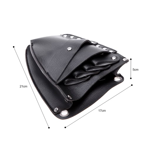 Beauty & Health Pu Leather Rivet Clips Holder Case Barber Hairdressing Holster Pouch Salon Scissor Bag With Waist Shoulder Belt