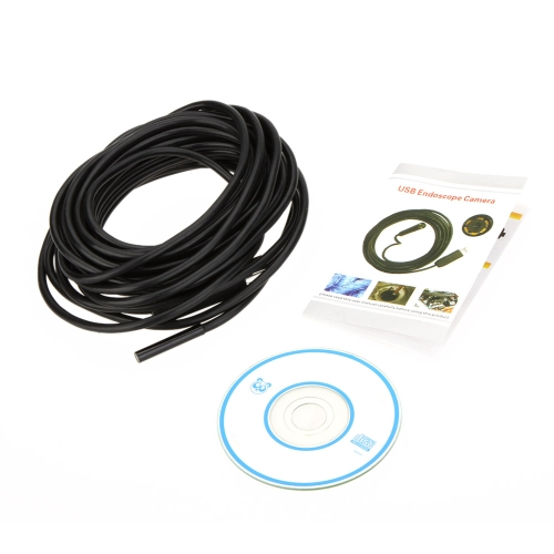 0.3MP Waterproof 5.5mm USB Inspection Camera Borescope Endoscope Snake Scope 6pcs LED 5M Cable