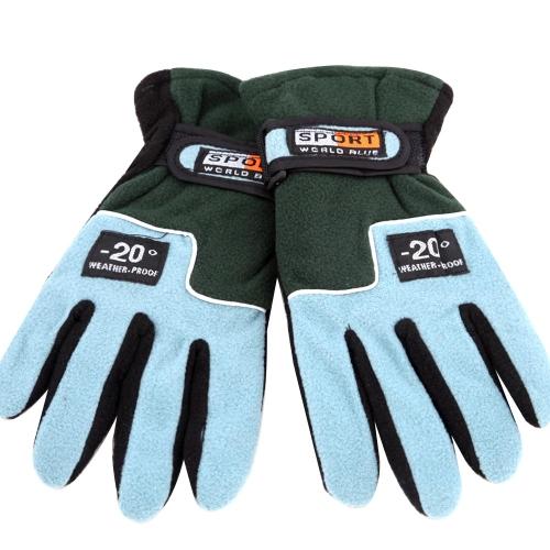Las mujeres guantes ajustable completo dedo paño grueso y suave al aire libre a prueba de viento térmico invierno esquí ciclismo esquí senderismo