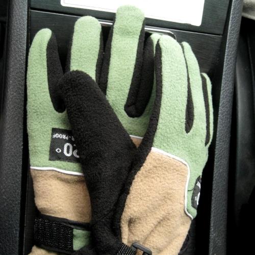 Le donne guanti regolabile completo dito in pile termico antivento all'aperto inverno sci ciclismo sci escursionismo