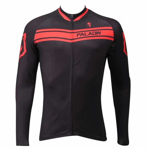 Paladin Sportswear Clothes Men's Winter Style 100% Polyester Warm Fleece Long Sleeved Outdoor Cycling Jersey