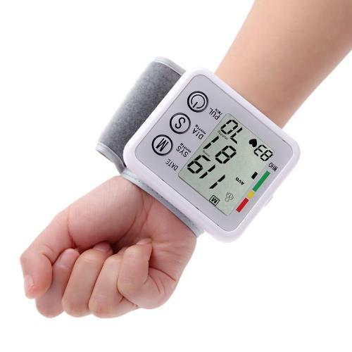 Medidor digital de presión arterial portátil para muñeca LCD