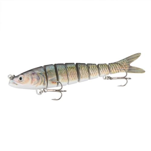 140 мм 27g 5.5» 8-сегмента Multi составник, рыбалка крючки тройные жизни как жесткий приманки приманки Swimbait 2