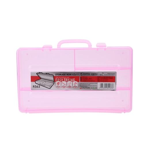 Unha ferramenta de arte caixa utilitário de armazenamento maquiagem cosméticos caso plástico ofício Salon Kit de manicure