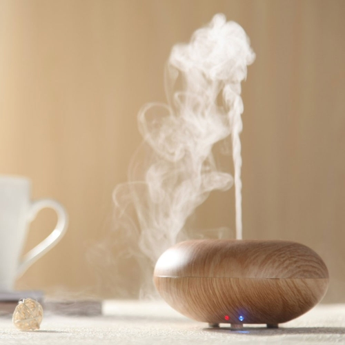 Wood Grain Ultrasonic Air Humidifier Aroma Diffuser Aromatherapy Office Purifier Mist Maker 12W