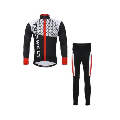 Велоспорт одежда набор спортивной велосипедов Джерси велосипед открытый с длинным рукавом + дышащей мужчин брюки