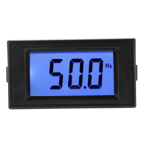 KKmoon 10-199.9Hz Blue LCD Digital Frequency Panel Meter Gauge Cymometer
