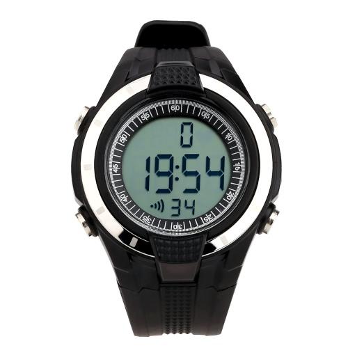 Sport impermeabile 3ATM Wireless cardiofrequenzimetro Fitness esercizio orologio con cassa cinturino in bicicletta all'aperto
