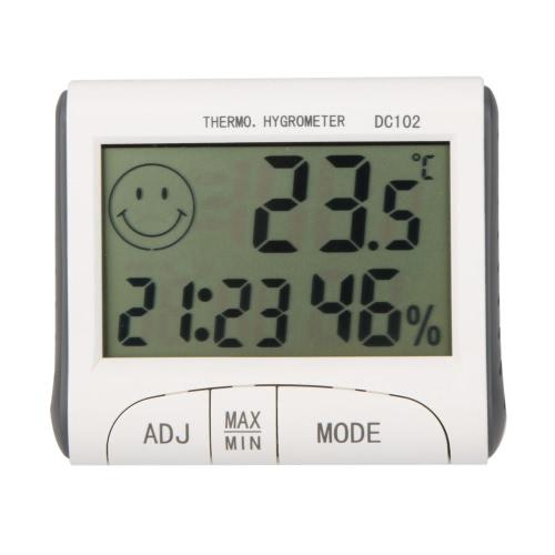 KKmoon    LCD デジタル温度計湿度計  温湿度計  W / 時計磁気