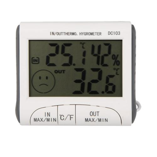 KKmoon    LCD デジタル温度計湿度計  温湿度計 メーター   W / 有線外部センサー
