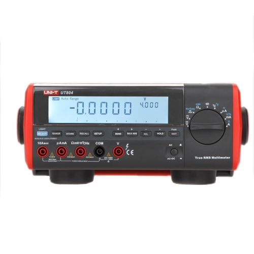 UNI-T UT804 True RMS Bench Type Digital Multimeter DMM HZ Temperature Tester Capacitor 40000 Counts w/Data Logging & Double Backlight