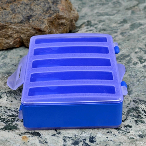 12.8 * 10 * 3,7 cm  Haken Box Doppelseitig Transparent Visible Kunststoff Angel Explosion Haken Set Fach 10 Fächer
