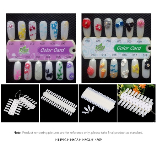 Desmontar puntas desmontables Nail Design de la práctica del arte formación polaca Color Display gráfico 36tips clavo carta de Color