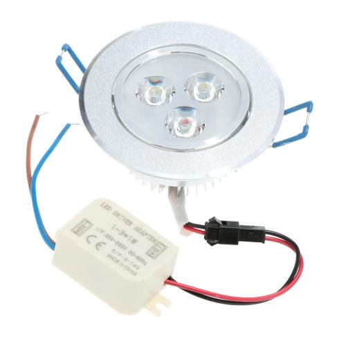 3 * 1W LED vertiefte Decken-unten Licht Lampe Spotlight Indoor Home Wohnzimmer-Dekoration-Beleuchtung mit Fahrer AC85-265V