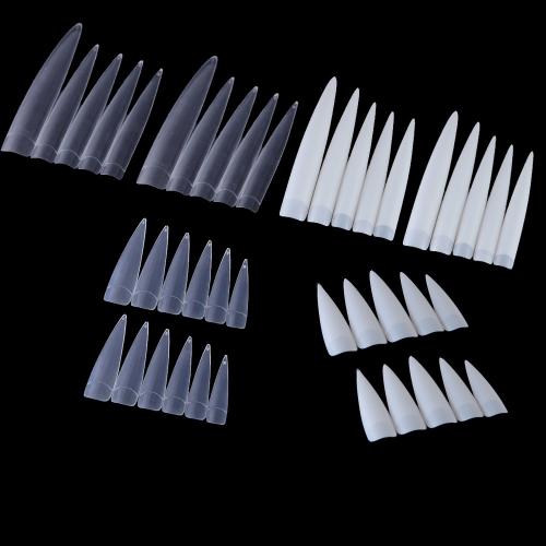 Советы 10шт длинные острые ложные ногтей профессиональный салон ложные ногтей акриловые искусство