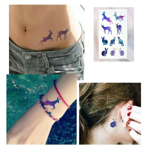 Tattoo Sticker Lovely Animals Pattern Waterproof Temporary Tattooing Paper Body Art