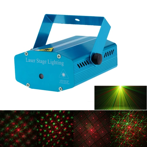 Mini Red & Green LED Laser Projector Stage Lighting