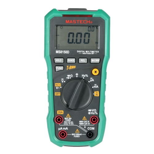 MASTECH MS8150D True RMS Auto Range Digital Multimeter DMM NCV Frequency Capacitance Tester 6600 Counts W/USB Interface