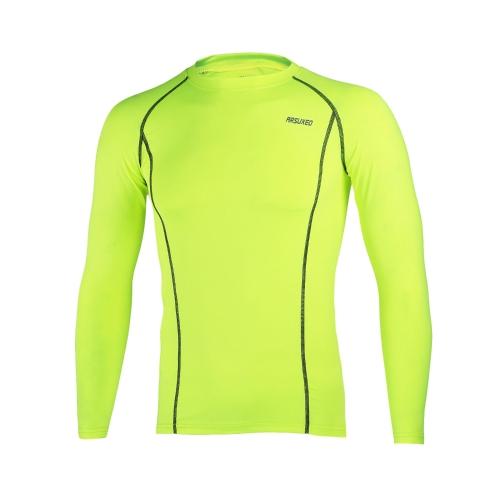 ARSUXEOサイクリングスポーツランニングフィットネス自転車ベースレイヤー下着長袖ジャージークイックドライシャツメンズ