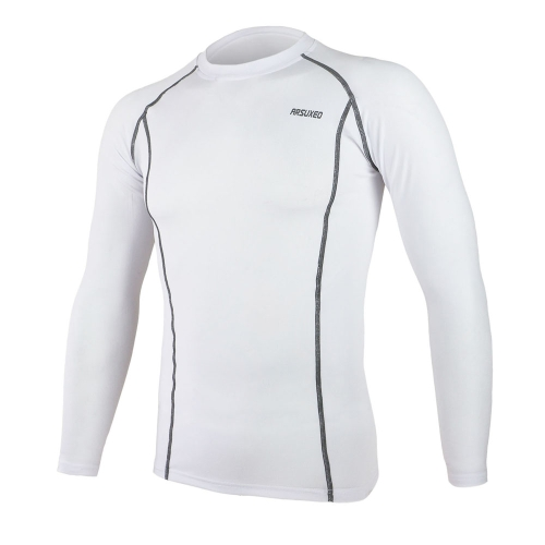 ARSUXEO Ciclismo Sport Running Fitness Bike biciclette Baselayer biancheria intima lunga manica maglia rapida asciugatura Shirt Men