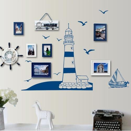 Blue Sailing Boat Tower Photo Art Wallpaper