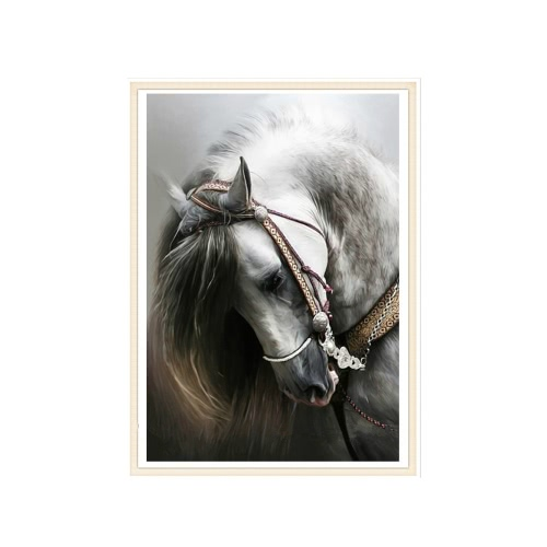 DIY Handmade Full Drill Diamond Painting Set Horse Pattern Resin Rhinestone Pasted Cross Stitch for Home Decoration 30 * 45cm