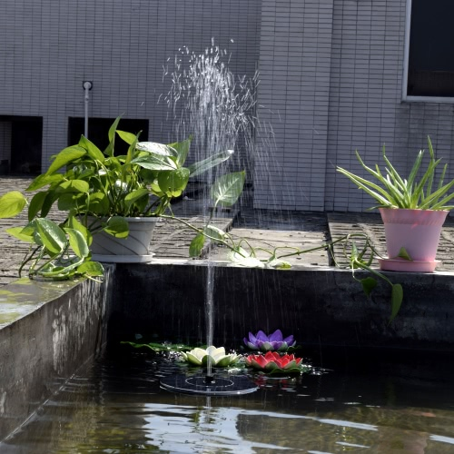 Anself Bomba de agua de energía solar sin cepillo bomba de fuente de panel solar monocristalino de plantas universal de jardín estanque de ahorro de energía respetuoso del medio ambiente