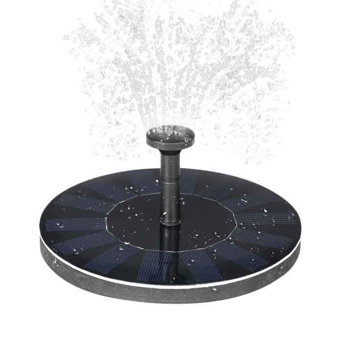 Solar-power Fountain Brushless Pump Plants Watering Kit with Monocrystalline Solar Panel for Bird Bath Garden Pond  Energy-saving Environmental-friendly Universal