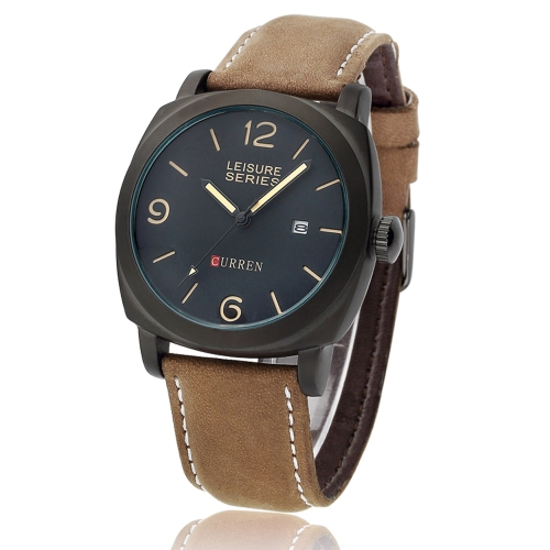 Curren 8158 Men Wristwatch Water Resistant Leisure Style Fashion Vogue Military Quartz Date