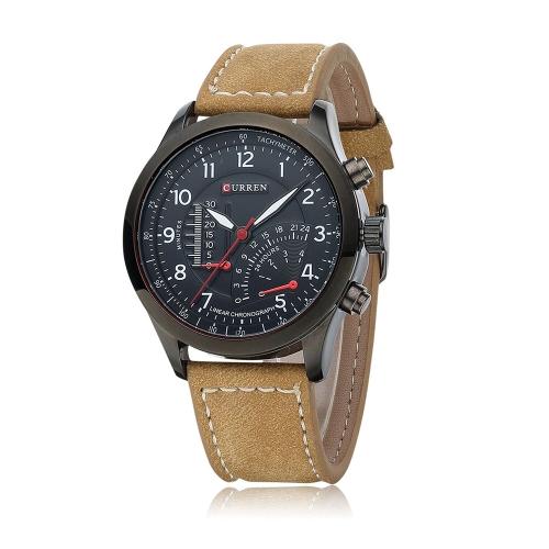 CURREN 8152 cuarzo de Men reloj de pulsera resistente al agua libre estilo militar análogo Vestido reloj