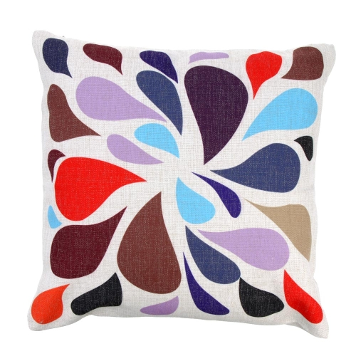 Colorful Color Matching Cotton and Linen Pillowcase Back Cushion Cover Throw Pillow Case for Bed Sofa Car Home Decorative Decor 45 * 45cm