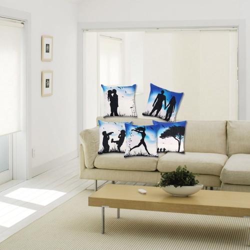 Паттерны силуэта любовников с художественным стилем Хлопковая и Льняная Наволочка Чехол на подушку Наволочка для кровати дивана и автомобилей Декоративный Декор Дома 45 * 45cm