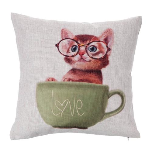 Cartoon Animals Koala Hedgehog Cotton and Linen Pillowcase Back Cushion Cover Throw Pillow Case for Bed Sofa Car Home Decorative Decor 45 * 45cm