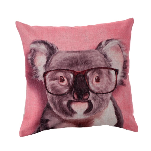 Cartoon Animals Koala Hedgehog Cotton and Linen Pillowcase Back Cushion Cover Throw Pillow Case for Bed Sofa Car Home Decorative Decor 45 * 45cm