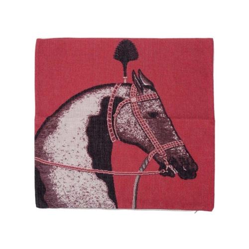 Europäischen Luxus-Pferd-Baumwolle und Leinen Kissenbezug zurück Kissen Throw Kissen Hülle für Bett Sofa Auto dekorative Hauptdekor 45 * 45cm
