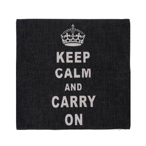 Anglais moderne lettres coton et lin, taie d'oreiller retour coussin couverture Throw taie d'oreiller pour lit canapé voiture décoratifs décoration 45 * 45cm