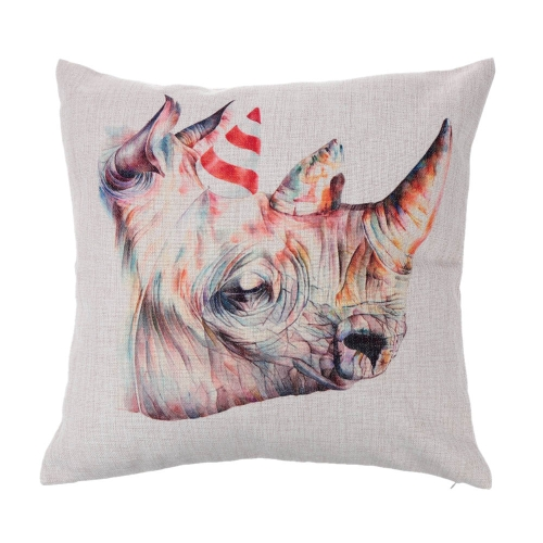 Giraffe Zebra Animals Cotton and Linen Pillowcase Back Cushion Cover Throw Pillow Case for Bed Sofa Car Home Decorative Decor 45 * 45cm