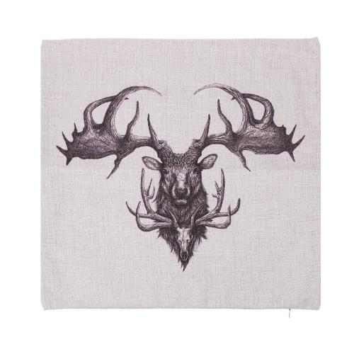 Elephant Rhinoceros Animals Cotton and Linen Pillowcase Back Cushion Cover Throw Pillow Case for Bed Sofa Car Home Decorative Decor 45 * 45cm