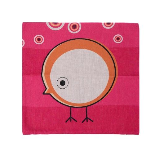 Cartoon Animals Parrot Owl Cotton and Linen Pillowcase Back Cushion Cover Throw Pillow Case for Bed Sofa Car Home Decorative Decor 45 * 45cm