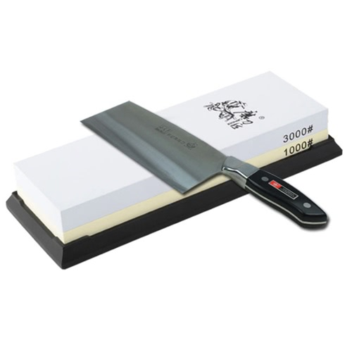TAIDEA 1000/3000 Grit Combination Corundum Whetstone Dual-sided Knife Sharpening Stone for Kitchen Knives