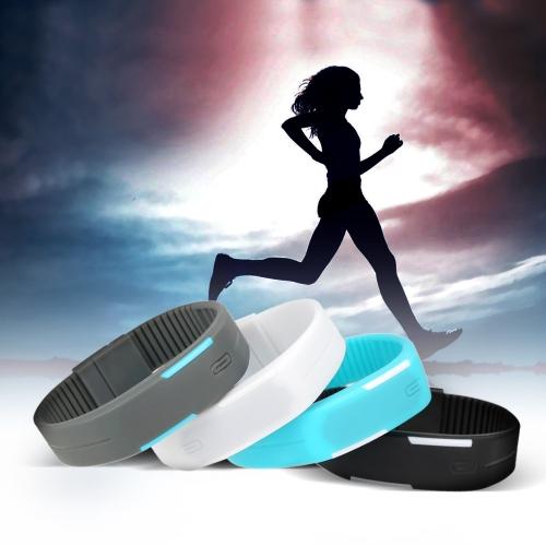 LED deporte reloj resistente al agua Digital pulsera de moda para hombres y mujeres gris