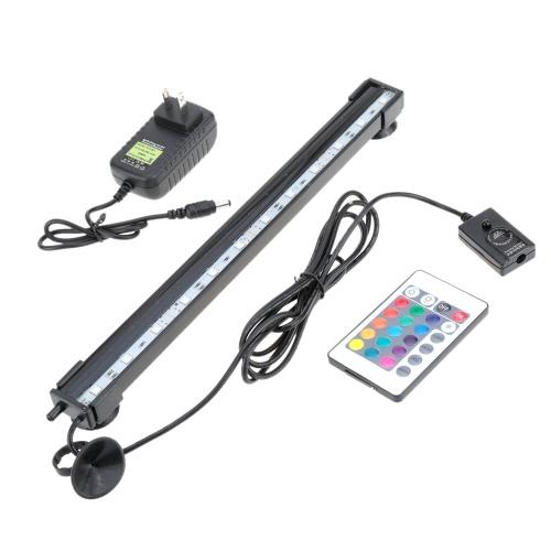 31 см 4.1W 12 светодиодов пузырь аквариум свет 120 градусов RGB 15Colors IP68 Погружной пульт дистанционного управления рыбы танк свет бар
