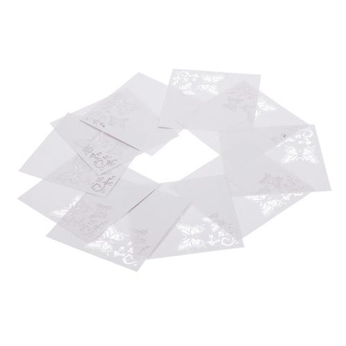 10шт Романтическая Белая Резная Бабочка Посадочная карта для свадьбы День рождения Банкетное украшение